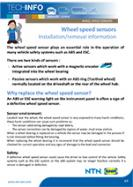 Wheel speed sensors